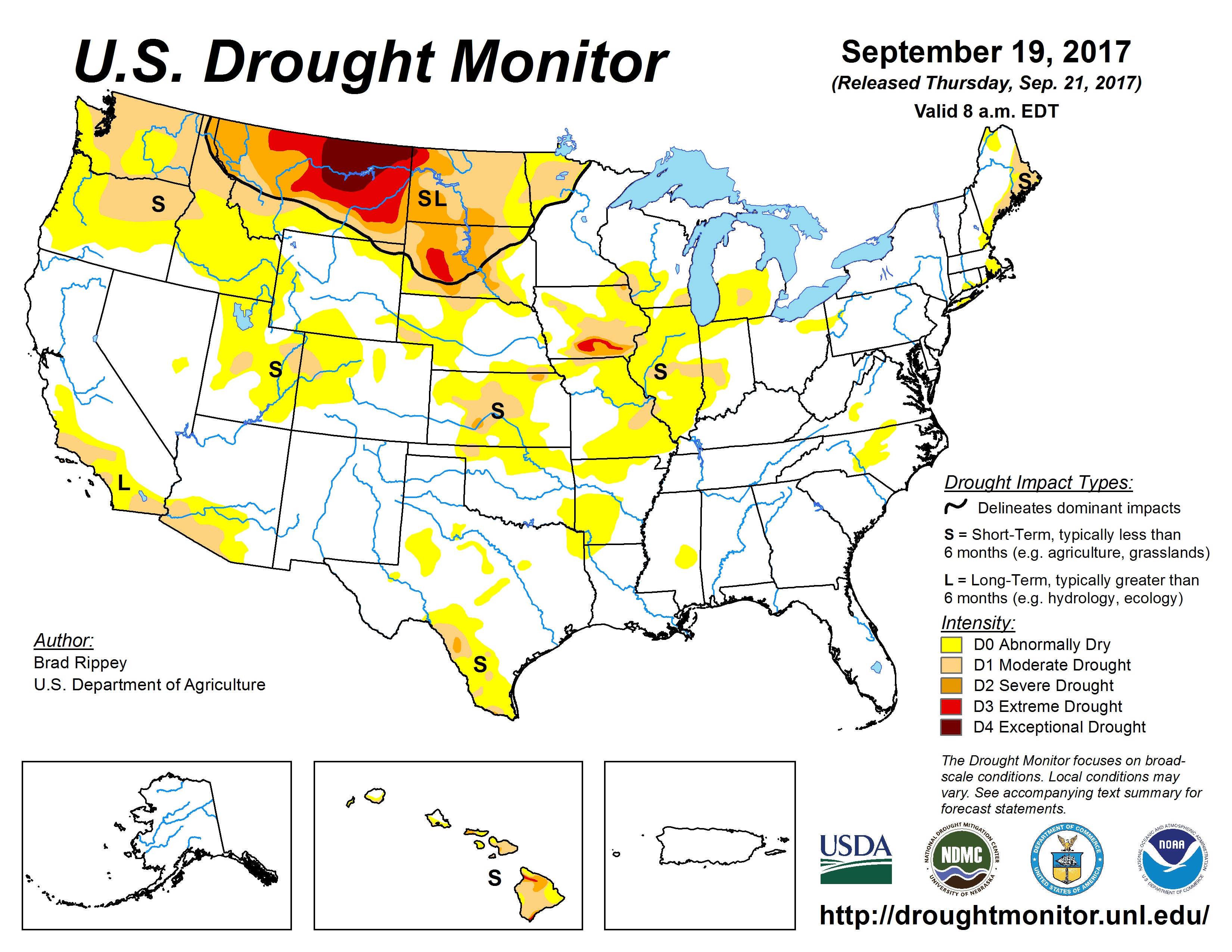Map: Improvement on Northern Plains; Southern Plains Drying Out ...