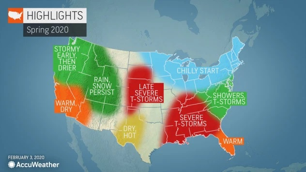 AccuWeather spring forecast