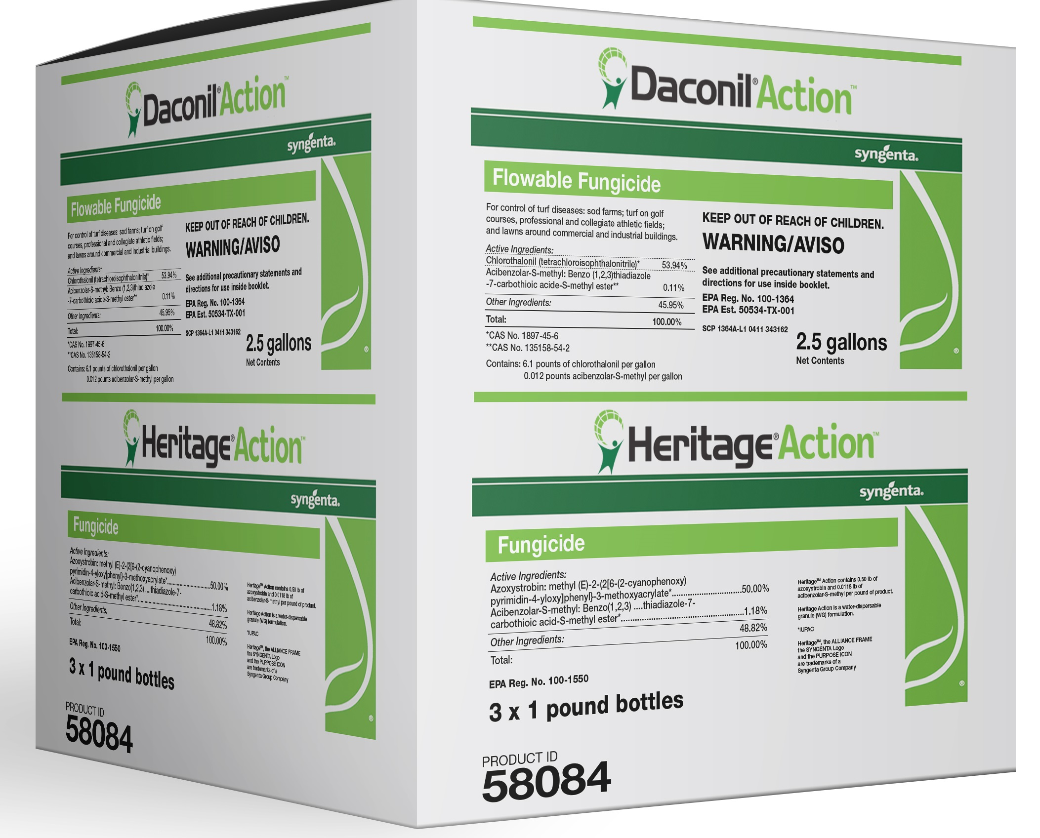Daconil and Heritage Action.