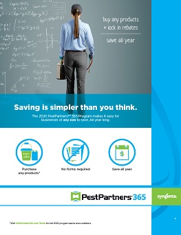 2020 PestPartners 365 Program Sheet