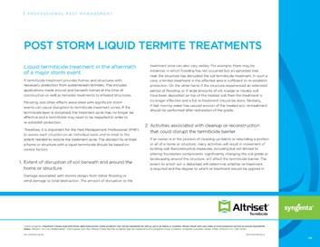 Post Storm Liquid Termite Treatments thumbnail