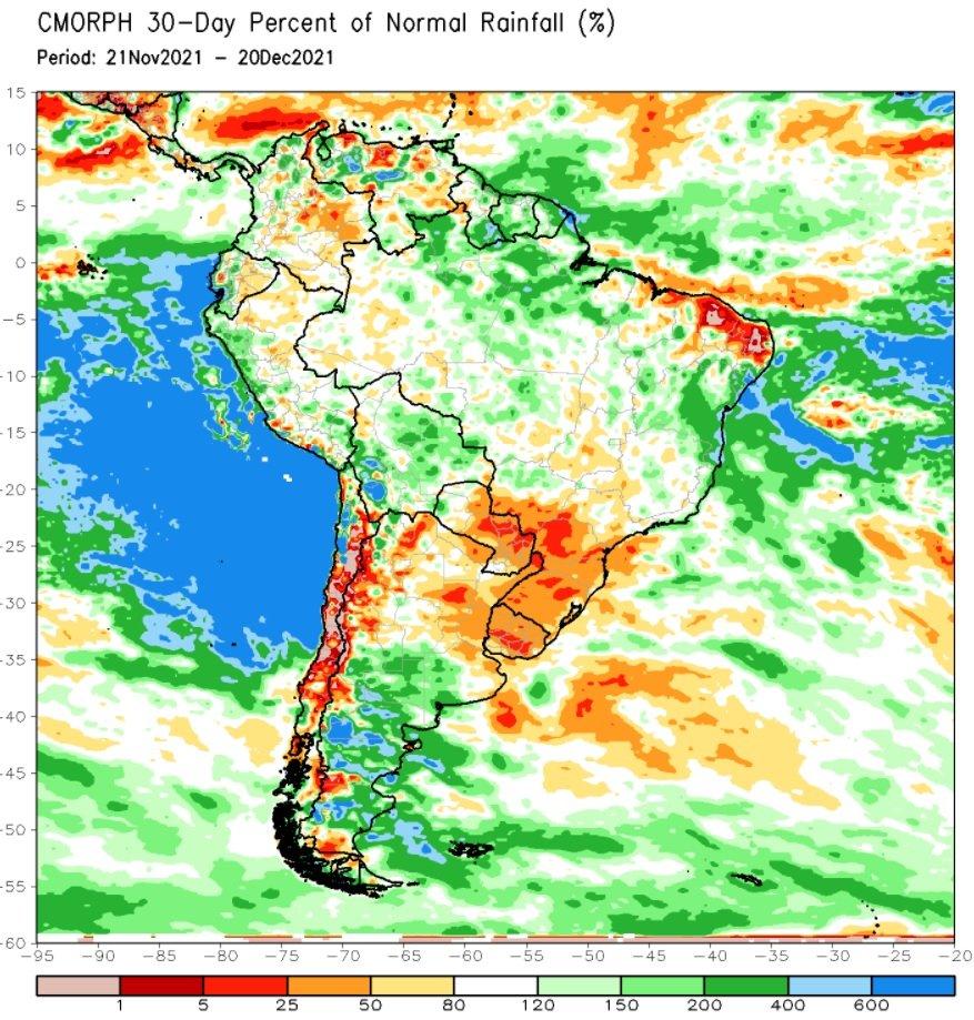 South American rainfall