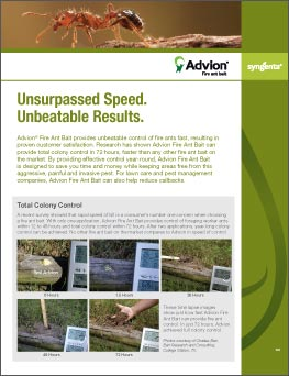 Advion Fire Ant Bait Information sheet