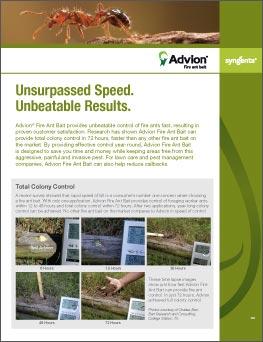 Advion Fire Ant Bait Information sheet