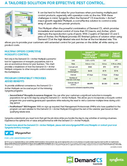 Demand<sup>®</sup> CS + Archer<sup>®</sup> Multipak Information Sheet