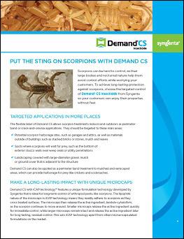 Demand CS Scorpion Information Sheet