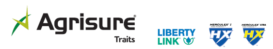Agrisure Traits, Liberty Link, HERCULEX and HERCULEX Shield logos