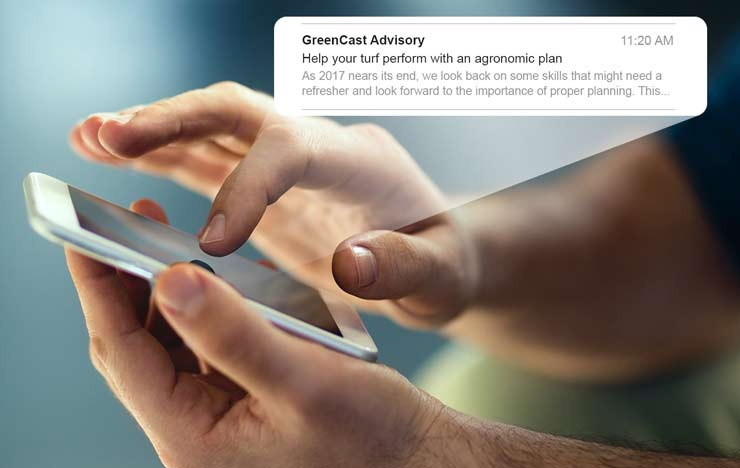 GreenCast Advisory Emails