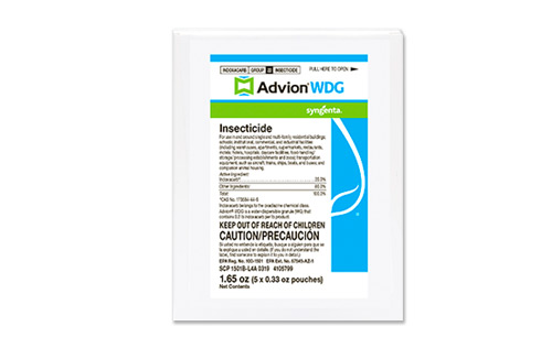 Advion WDG carton of five 0.33-oz. packets