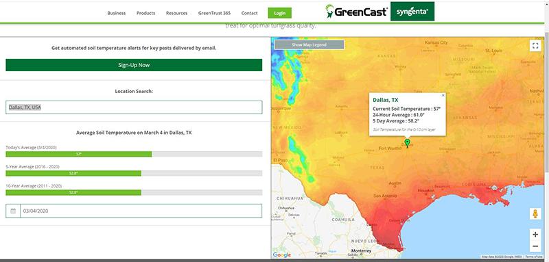 Soil Temperature Map Texas Field Insights Blog   GreenCast   Syngenta