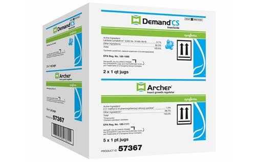 Multipak (2 1-quart bottles of Demand CS and 5 1-pint bottles of Archer insect growth regulator)