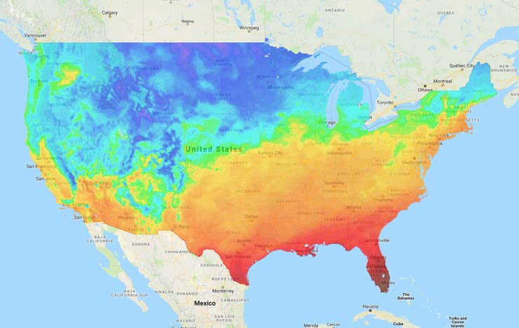 Us Soil Temp Map Soil Temperature Maps | GreenCast | Syngenta