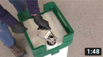 video thumbnail of Attaching a micro matic fitting to a Syngenta Seedcare tote