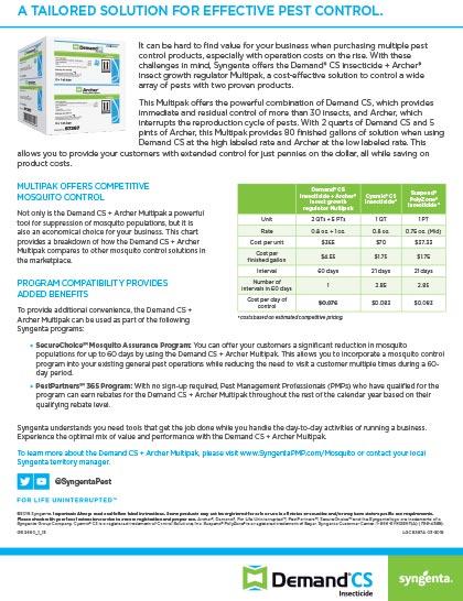 Demand CS + Archer Multipak Sell Sheet
