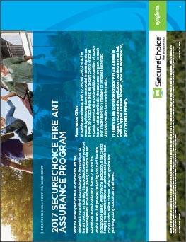 SecureChoice Fire Ant Assurance sheet