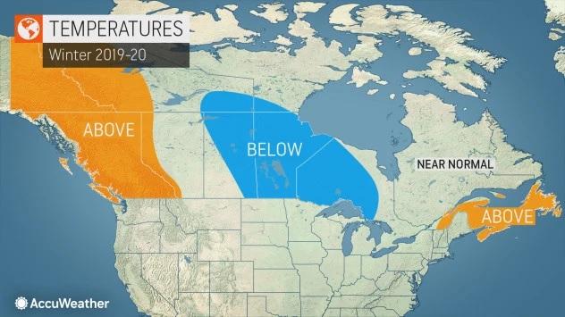 Winter temp forecast